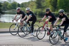 Countess of Wessex Sophie joins soldiers for cycling training for Edinburgh to London   Daily Mail Online
