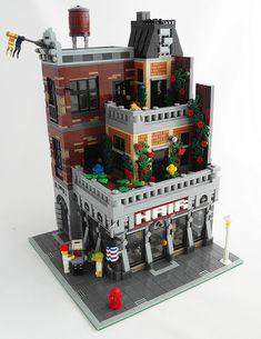The Essence of Modular Building - LEGO Town - Eurobricks Forums Lego Modular, Lego Design, Lego Moc, Lego City, Casa Lego, Minecraft, Construction Lego, Lego Boards, Cool Lego Creations