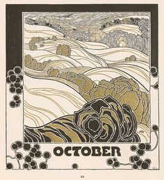 Adolf Michael Boehm - Herbstglut - Kalender 1901 - Category:Ver Sacrum – Wikimedia Commons