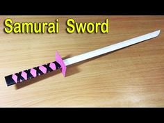 How to make a paper ninja samurai sword for kids play - life hack diy Origami Ninja Sword, Origami Weapons, Sword Craft For Kids, Diy For Kids, Crafts For Kids, Lego Ninjago, Origami Art, Origami Knife, Oragami