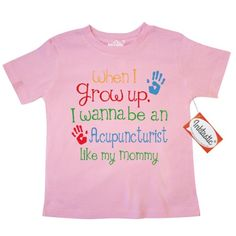 Inktastic Acupuncturist Like Mommy Toddler T-Shirt Child's Kids Baby Gift Acupuncturist's Daughter Childs My Cute Occupation Apparel Job Future Handprints Tees. Child Preschooler Kid Clothing Hws, Size: 4T, Pink