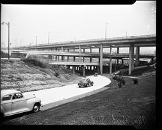 Harbor Freeway Interchange, Los Angeles, CA. 1952