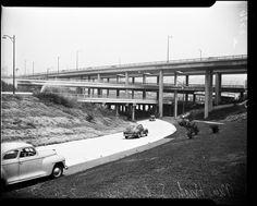 Harbor Freeway Interchange, Los Angeles, CA. 1952
