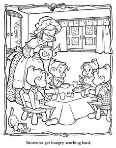 Christmas Coloring Page By Merry Paint Book Whitman Publishing Eileen Fox Vaughan Illustrator