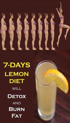 A new lemon diet will detox and burn fat - women'z fitness. 10 Day Diet, Week Detox Diet, Detox Cleanse For Weight Loss, Detox Diet Drinks, Detox Diet Plan, Healthy Drinks, Cleanse Diet, Stomach Cleanse, Diet Cleanses