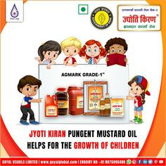Jyoti Kiran - Pungent Mustard Oil.. Keeping in mind the Goyal Business Ethics to provide the best cooking medium, Goyal Vegoils Ltd. introduced the best quality Jyoti Kiran Pungent Mustard Oil, retaining the natural pungency of mustard.The Company's R&D developed 'Cold Screw Press Technology and put it to Commercial use First time in the History of Mustard Oil Production. The Innovation has proved very successful in extracting Mustard Oil with full of Nutrition and Natural Pungent Aroma b Best Cooking Oil, Oil Production, Mustard Oil, Business Ethics, Keep In Mind, First Time, Innovation, Commercial, Mindfulness