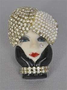 Art Deco brooch  Bakelite and pearls
