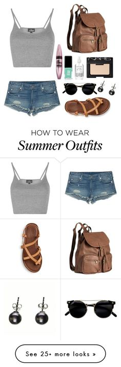"""""""Summer Outfit"""" by shuaby247 on Polyvore featuring Topshop, True Religion, H&M, Maybelline, Jin Soon and NARS Cosmetics"""