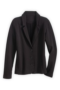 Fair Indigo Organic Fair Trade Knit Blazer - Jackets and Blazers - Women