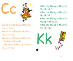 Jolly phonic songs for C and K Alphabet Activities, Preschool Worksheets, Preschool Activities, Letter C Song, Jolly Phonics Songs, Teaching Kids, Kids Learning, Activities For 5 Year Olds, Educational Assistant