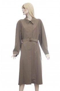 HERMES světle hnědý lehký vlněný kabát plášť macintosh / HERMES biege wool coat macintosh