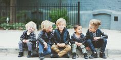 Oh. My. Word. They are all so adorable! I love the kids hair all the way to right. :)