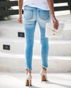 High + Mighty Distressed High Rise Skinny – VICI Latest Jeans, Racerback Tank, Skinny Jeans, Denim, Cotton, Fashion, Womens Fashion, Moda, Fashion Styles