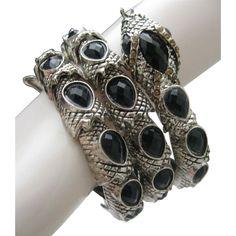 Egyptian Revival Serpent Coiled Bracelet