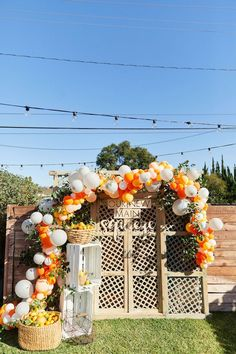 Our New Main Squeeze Welcome Home Adoption Party - Inspired By This Budget Baby Shower, Baby Shower Photos, Baby Shower Favors, Baby Shower Parties, Baby Shower Themes, Backyard Party Decorations, Balloon Decorations, Baby Shower Decorations, Welcome Home Parties