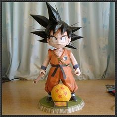 This papercraft is the Kid Goku, based on the manga / anime / game series Dragon Ball, the paper model was created by Carojama, and assembled by 3d Paper Crafts, Paper Toys, Diy And Crafts, Dbz, Z Craft, Origami, Papercraft Download, Goku And Chichi, Kid Goku