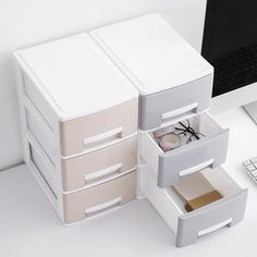 Multi-layer Desktop Drawer Storage Box Office Paper File Container Home Toy Cloth Underwear Socks Storage Boxes Sundries Case Desktop Drawers, Desktop Storage, Desktop Organization, Sock Storage, Storage Drawers, Storage Boxes, Office Paper, Home Desk, Dressing Table