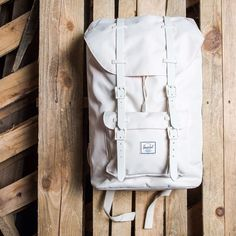 """""""Herschel Supply Co. Little America Backpack Mid Volume - Natural/Gum Rubber $100 Available now online and at our Lafayette location. #herschel #backpack…"""""""