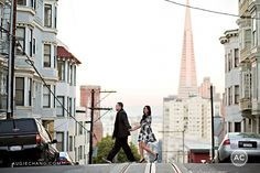 This couple is so cool! Engagement photos in San Francisco Nob Hill