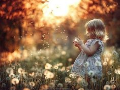 Dandelion seeds are magical when you're little.