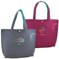 OWL Recycled Felt Tote. #ecofriendly