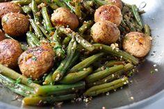 Green Bean and Meatball Stir-Fry