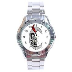 Pirate Moon Stainless Steel Watch by IphavokImpressions