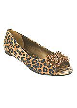 Peep-Toe Leopard Ballerina Shoes Let out your inner leopard! :) #ShiptoShore