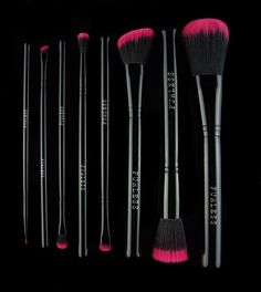 This professional pink brush set is the ultimate beauty power pack on the go.  Shop: http://furlesscosmetics.com/pink-makeup-brush-set