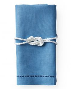 Sailor's Knot Napkin Rings #Nautical #Wedding … Wedding #ideas for brides, grooms, parents & planners https://itunes.apple.com/us/app/the-gold-wedding-planner/id498112599?ls=1=8 … plus how to organise an entire wedding, within ANY budget ♥ The Gold Wedding Planner iPhone #App ♥  http://pinterest.com/groomsandbrides/boards/  For more #Wedding #Ideas & #Budget #Options, #Preppy #Wedding, #Beach #Wedding, #Blue #Navy #White