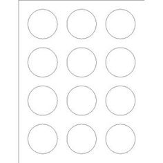 Free Avery® Templates - Round Label, 12 per 4x6 sheet, 5410 ...