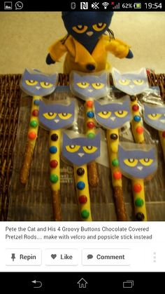Pete the cat buttons cooking