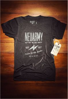 Image of Standard Issue Neuarmy Shirt Creative Shirts, Cool Shirts, Tee Shirts, Tee Shirt Designs, Tee Design, Clothing Tags, Branded Shirts, Printed Tees, Fashion Prints
