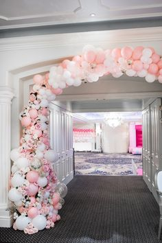 Shop Luxury Balloon Bunting by Bubblegum Balloons with Next Day Delivery.This gorgeous Baby Pink Balloon Bunting is made up of 28 linking balloons in baby pink, ivory silk, and pink feathers.
