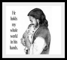 He holds my whole world in his hands. <3 Pregnancy & Infant Loss Awareness <3