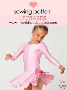 girls leotard sewing pattern, gymnastics leotard pattern, dance leotard pattern