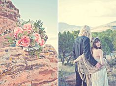 .boho collection: western desert portrait photography with desert flowers