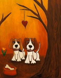Beagle Love by Toula