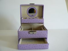 Vintage Mauve Faux Leather Jewelry Box by Saltofmotherearth, $15.00
