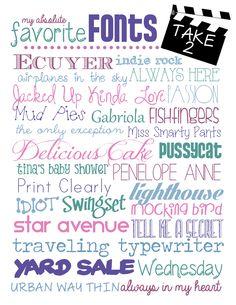 My Favorite {free} Fonts: Take 2!