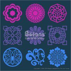 꽃과 식물 문양 패턴. 한국 전통문양 패턴디자인. (BPTD020102) Flower and Plant Pattern Design. Korean traditional Pattern is a Pattern Design. Copyrightⓒ2000-2014 Boians.com designed by Cho Joo Young.