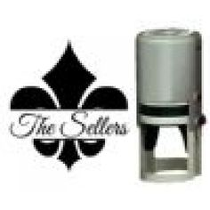 FLEUR DE LIS SELF INKING NAME ROUND STAMP - GREAT GIFT IDEA