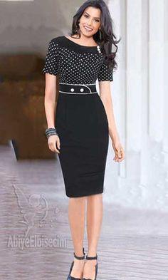 kısa elbise kalem elbise kısa  kollu  puantiyeli ofis iş davet için muhteşem, bayan elbise,abiye elbise
