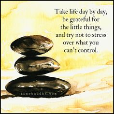 Try Not to Stress Over What You Can't Control - Tiny Buddha Great Quotes, Quotes To Live By, Me Quotes, Inspirational Quotes, Motivational Quotes, Zen, Tiny Buddha, Lessons Learned In Life, A Day In Life
