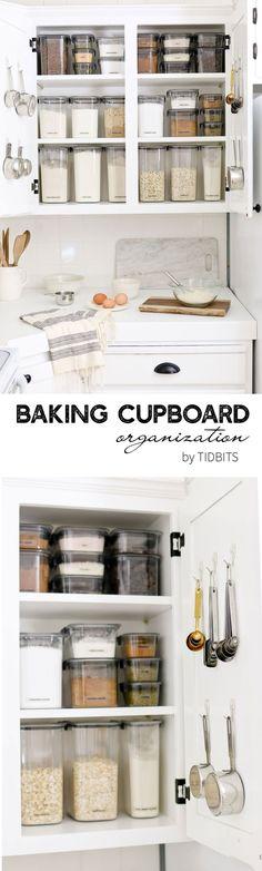 Baking Cupboard Organization by TIDBITS #bakingcupboard #baking #organization #kitchenorganization