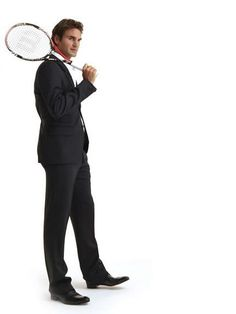 Class act on and off the courts. Roger Federer