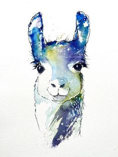 Pin by monica andrea perez on favorite альпаки, акварельное искусство, ламы Alpacas, Animal Art Prints, Wall Art Prints, Watercolor Animals, Watercolor Paintings, Painting Inspiration, Art Inspo, Lama Animal, Llama Decor