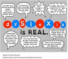 Dyslexia is real.