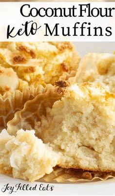 Coconut Flour Muffins are a delectable way to start the day! They are flavorful, simple to make, and are perfect when you are heading out the door and need a quick breakfast idea. Coconut Flour Biscuits, Coconut Flour Muffins, Keto Biscuits, Coconut Flour Cakes, Keto Pancakes, Coconut Flour Recipes Low Carb, Low Carb Dinner Recipes, Low Carb Desserts, Keto Recipes