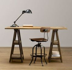 How To Make A Diy Vintage-inspired Sawhorse Trestle Desk